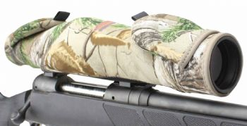 Beartooth ScopeMitts Neoprene Rifle Scope Guard Flip Up Cover Protector - Realtree Extra Camo